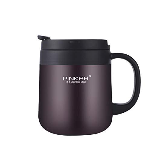Nordira Sport Trinkflasche Edelstahl, Auslaufsicher Outdoor Sportflasche Thermo Becher Kaffee TasseFür Gym/Camping/Reise/Outdoor Sport-Matter Oberfläche Kaffee