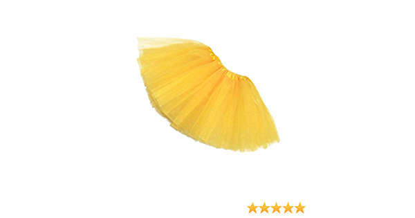 Ogquaton Qualit/é Premium Femme//Adulte Tenue De Danse Organza Tutu Ballet Pettiskirt Princesse Jupe Jaune