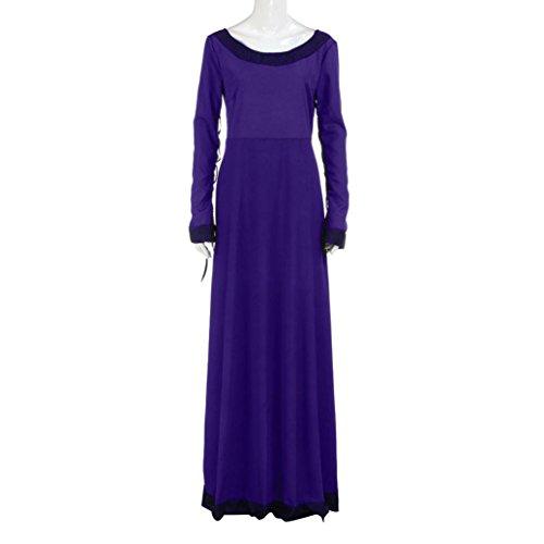 Robe Femmes, Fulltime® Femmes Vintage robe médiévale Cosplay Costume Princesse Renaissance gothique robe Violet