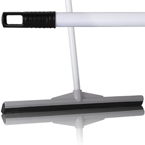 2 Pack Of 55cm Professional Floor Squeegees With 120cm Strong Metal Handle For Cleaning Tiles & Hardfloors - Comes With TCH Anti-Bacterial