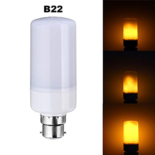 SBE Led Flame Bulb Flicker, True Fire Effect Light Bulb, B22 9W Base, Real Flame Lighting, Multiple Lighting Performance, Indoor 3 Modes Decorative Lamps.