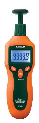 Extech RPM33 Contact/Laser Photo Tachometer