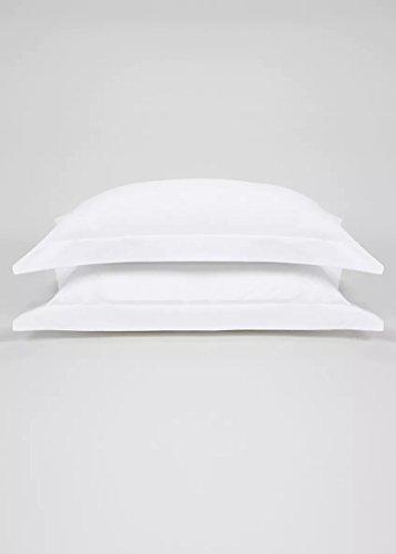 Par de fundas de almohada blancas de algodón egipcio 100% para más información, por favor déjate en nosotros E-MAIL en Amazon Thanks para ti y para el día a día.