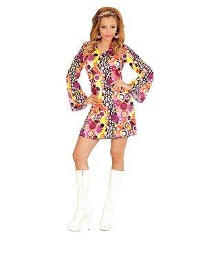 Girls Groovy Kostüm - Widmann wid67674-Kostüm für Erwachsene Groovy Girl, mehrfarbig, XL