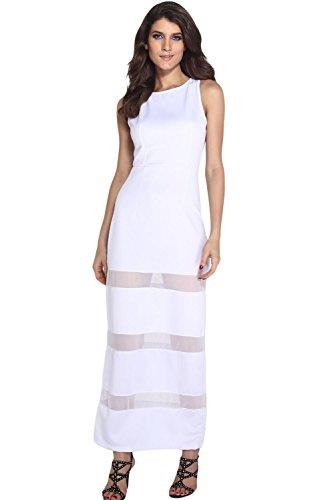 E-Girl femme Blanc SY6324 longue Robe Blanc