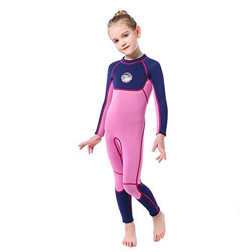 Ledu Kinder-Neoprenanzug, UPF50 + Sonnenschutz-Neopren-Kinder-Badeanzug für Frauen, Reißverschluss-Schwimm-Tauchanzug - ideal zum Kajakfahren und Tauchen,L