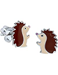 Sterling Silver Hedgehog Earrings Gift