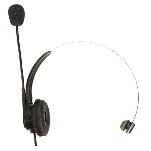 Telefono Cuffie - TOOGOO(R)RJ11 cristallo testa Telefono Cuffie Con Microfono