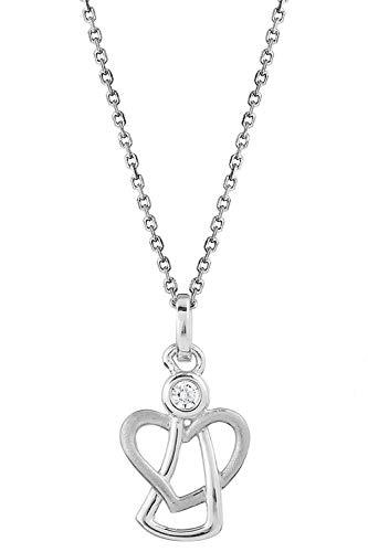Xenox Silber Mädchen-Halskette mit Engel-Anhänger XS3472K