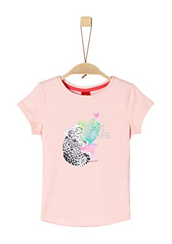 s.Oliver Mädchen 53.904.32.5632 T-Shirt, Rosa (Rose 4136), 104 (Herstellergröße: 104/110/REG)