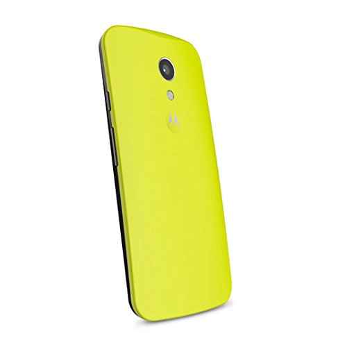 Motorola Clip-On Shell Hülle Schale Case Cover für Moto G (2. Generation) Smartphone - Lemon-Lime