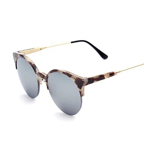 GCC Die Sonnenbrille runde Ultra-leichten semi-Box Retro Farbe Film Sonnenbrille, B