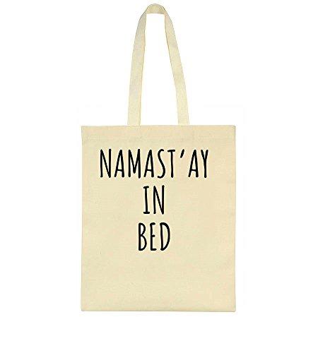 Namaste Yoga-tote (NAMAST'AY IN BED Namaste Stay Sleep Leinentasche Tote Bag)