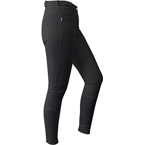 John Whitaker Ladies Horbury Full Seat Riding Breeches 28 inch Black (Knöchel-tab)