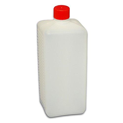 1000 ml Abfüllflasche mit Deckel und Dichtung *Plastikflasche zum abfüllen von Flüssigkeiten* Lotionflasche eckig weiss NEU