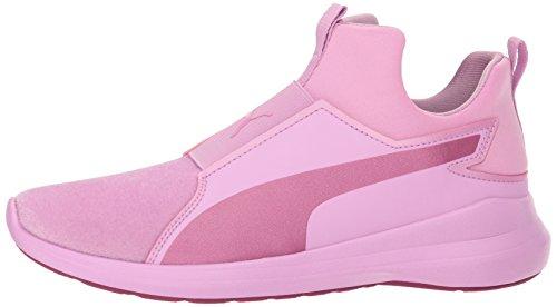 PUMA Unisex-Kids Rebel Mid Sneaker  Orchid-Magenta Haze  12 M US Little Kid