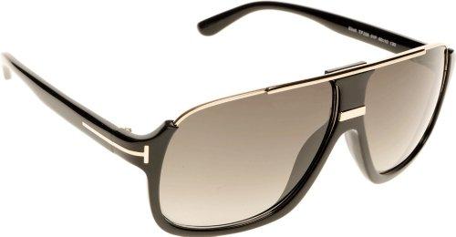 Tom Ford Herren FT0335 01P 60 Sonnenbrille, Schwarz (Nero Lucido/Verde Grad),