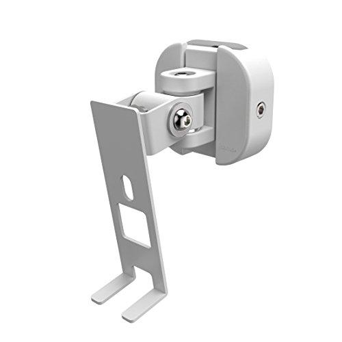 Hama Wandhalterung für Sonos PLAY:1 Lautsprecher, voll beweglicher Wandhalter (360° drehbar, neigbar, schwenkbar, Easy-Fix-System) Lautsprecherhalter, weiß