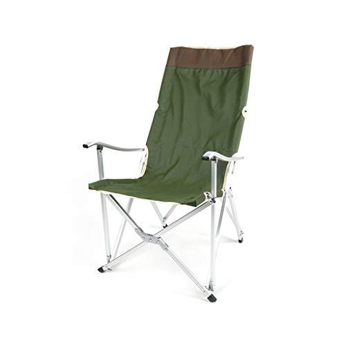 ZXCC Tragbarer Camping- und Sportstuhl mit Zwei Schlössern (grün)