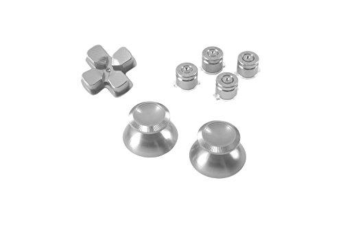 GAMINGER Patronen Button Analogsticks D-Pad Steuerkreuz aus Aluminium für Sony PlayStation 4...