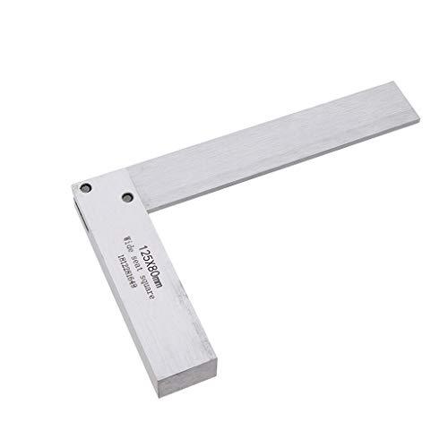 FLAMEER Ingenieure Quadrat Messen Gebäude Lineal Werkzeuge Fliesenleger Winkelmesser 90 Grad Winkel - 125 x 80 mm