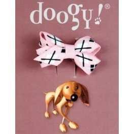 Artikelbild: Haarschleife für Hunde Lila mit Muster