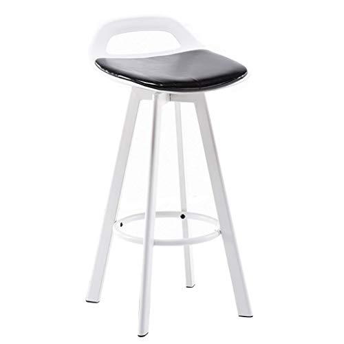 Chaise de Bar en Bois Imitation/Tabouret de Bar/Tabouret de Bar en Fer forgé/Tabouret créatif/Tabouret Haut de Maison, Cadre en Fer Blanc et siège en PU, pour comptoir/café/pub/Restaurant(72cm)
