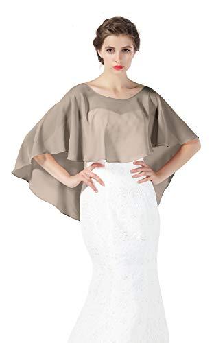 Beautelicate scialle coprispalle elegante donna stola chiffon scialli cape mantello donna estivo elegante vintage per cerimonia sposa festa 25 colori