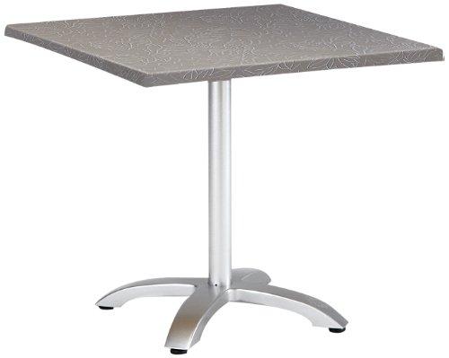 Best Maestro Table de jardin carrée et pliante 80 x 80 cm argent