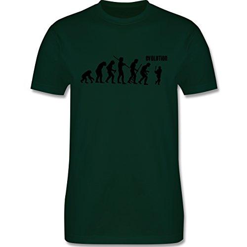 Evolution - Baseball Evolution - Herren Premium T-Shirt Dunkelgrün