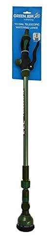 Green Jem 10 Dial Telescopic Watering Lance, Green, 76x8x8 cm