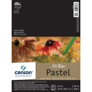 CANSON 98 lb/160g Mi-Teintes Pastel Pad, 9 x 12
