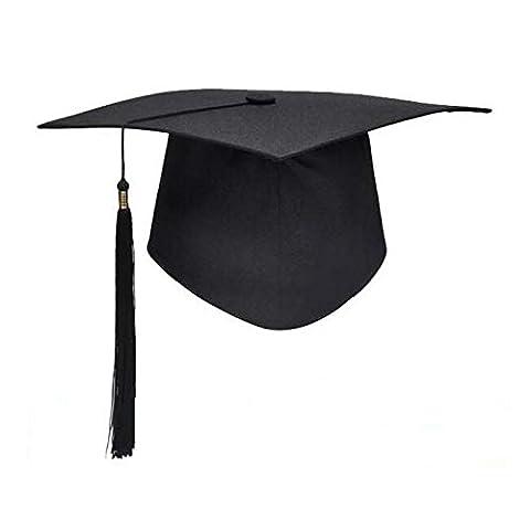 Tocoss (TM) Tableau noir Mortier adultes Graduation Chapeau Robe d'accessoires pour ¨¦tudiants
