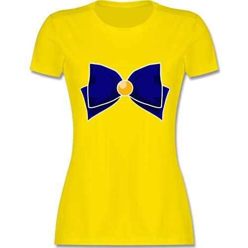 Karneval & Fasching - Superheld Manga Venus Kostüm - M - Lemon Gelb - L191 - Damen T-Shirt Rundhals