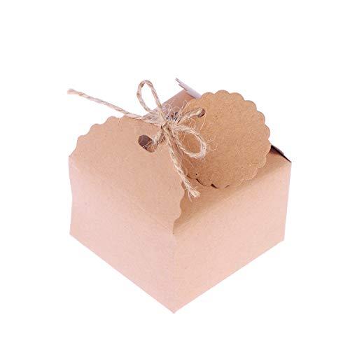 Healifty 50 stücke Hochzeit Süßigkeitskästen Geschenk Schokolade Boxen Party Gefälligkeiten mit Seil