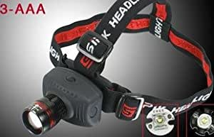 CREE 5W Led 300 Lumens Headlamp Headlight AAA Head Torch black
