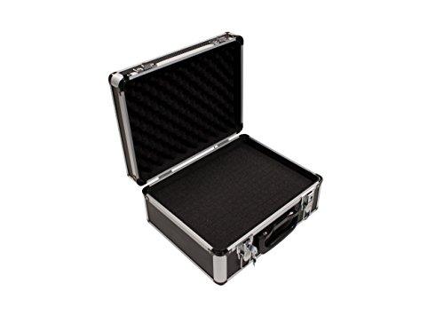 Peak Tech P 7300 - Estuche universal instrumentos de medición, maletín, aluminio, robusto, almacenamiento de herramientas, espuma, acolchado, bloqueable, Cubierta antipolvo, M - 320 x 250 x 150 mm