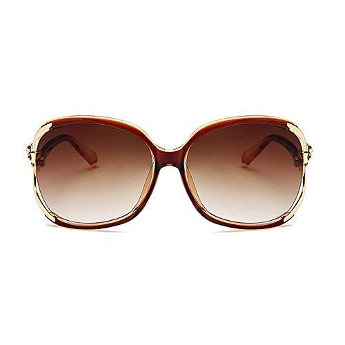 OOOUSE Damen-Sonnenbrille, polarisiert, Vintage, UV400-Linsenschutz, übergroßer Rahmen, runde Reisebrille, für Damen braun