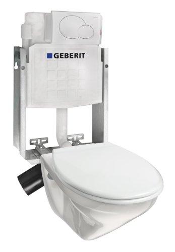 Villeroy & Boch  Komplettanlage Villeroy & Boch OMNIA tiefspül Wand-WC + Geberit Unterputz Spülkasten, weiß