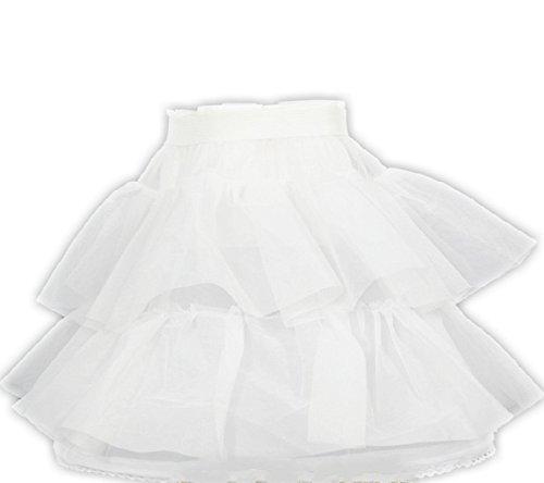 Weiß 50er Jahre Petticoat Vintage Retro Reifrock Petticoat Unterrock für Rockabilly Kleid