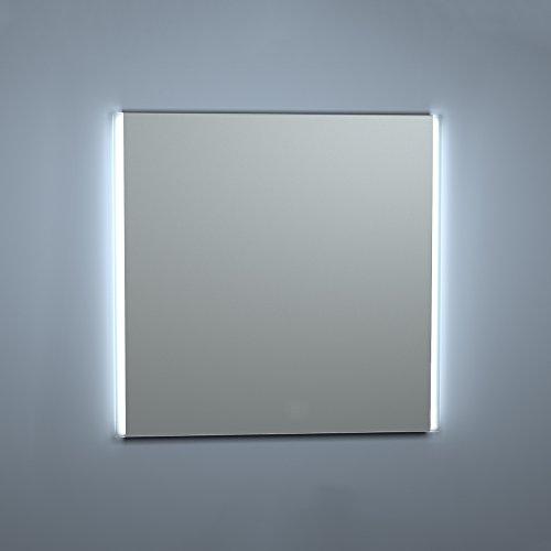Kristaled Aran Led 80x80 cm Bisel Mate Lateral Espejo