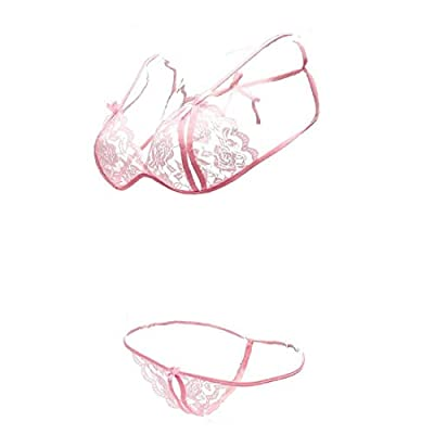 Waooo Women's Satin and Net Lingerie (Pink, Free Size)