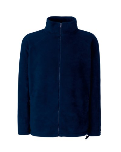 Full Zip Fleece von Fruit of the Loom S M L XL XXL XXL XXL verschiedene Farben Deepnavy