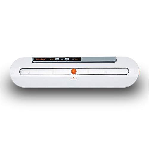 Vakuumverpackungsmaschine Kleine Kompressionssiegelmaschine Lebensmittelverpackung Kunststoff Staubsauger, 35,5 * 82 * 65mm,White