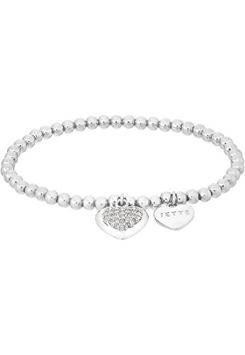 JETTE Silver Damen-Armband MY LOVE Armband 925er Silber 34 Kristall One Size, silber