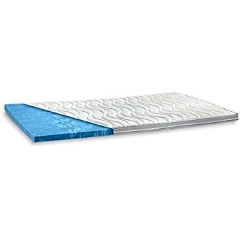 gel gelschaum matratzenauflage memory foam h he 6 cm matratzen topper weiche auflage f r. Black Bedroom Furniture Sets. Home Design Ideas
