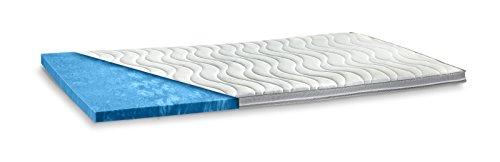 AQUASOFT Gelschaum-Topper Matratzenauflage | 10 cm Gesamthöhe | waschbarer Bezug mit 3D-Mesh-Klimaband und Stegkanten | hydrophile Eigenschaften | besonders softer Touch | 180 x 200 cm Mesh 10