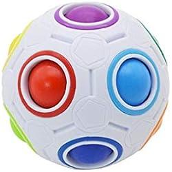 Arco iris mágico rompecabezas del arco iris de la bola del cubo del juguete de la bola Puzzle niños Estrés ReliefDecompression juguete color al azar