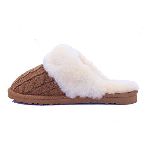 Ciabatte In Lana Dagnello Bambobar Per Donne, Uomini E Bambini. Pantofola Pantofola Pantofola Foderata Calda Foderata Ciabatta Inverno Autunno Estate Castagna Marrone