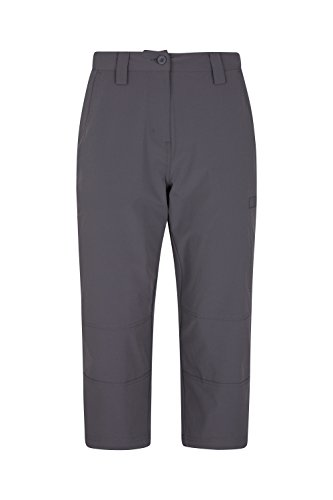 Price comparison product image Mountain Warehouse Trek Stretch Womens Capris – Lightweight Capri Pants,  Durable 4 Way Stretch Summer Trousers,  Easy Pack Casual Bottoms - for Hiking,  Travelling,  Walking Charcoal 10